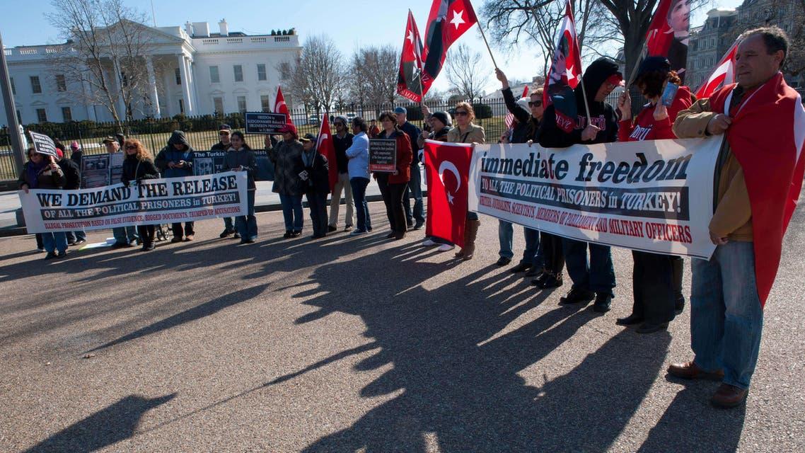 U.S. Turkish community protests against Erdogan