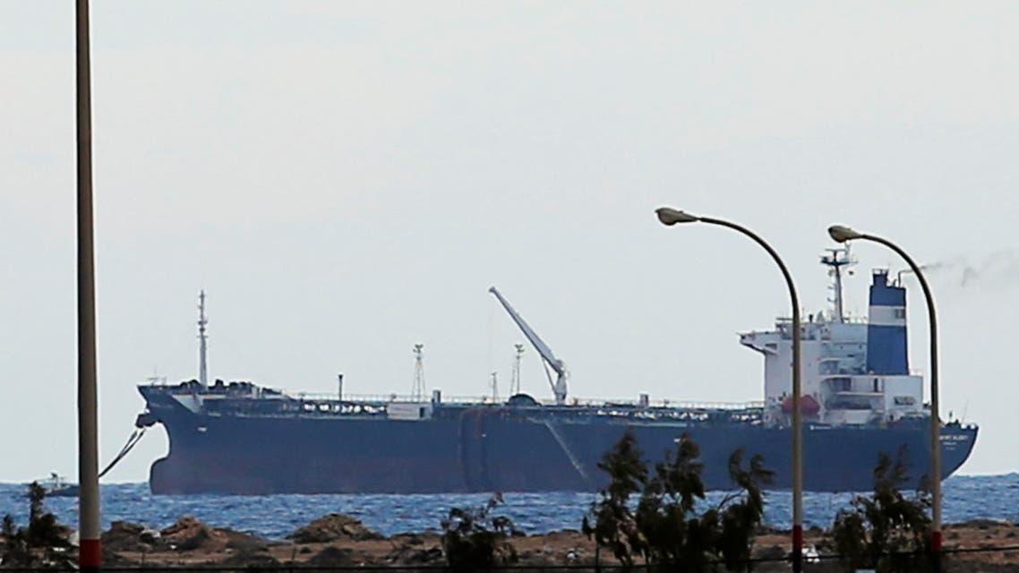 ناقلة النفط الكورية الشمالية الراسية امام الشواطئ الليبية