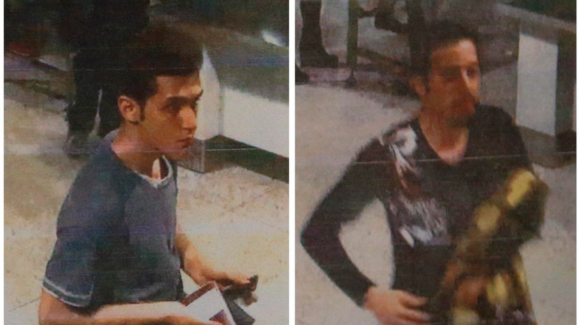 Malaysia's Police Chief, Inspector General Khalid Abu Bakar told a news conference, that one of the men (L) was identified as a 19-year-old Iranian Pouria Nour Mohammad Mehrdad while the identity of the other was being investigated reuters