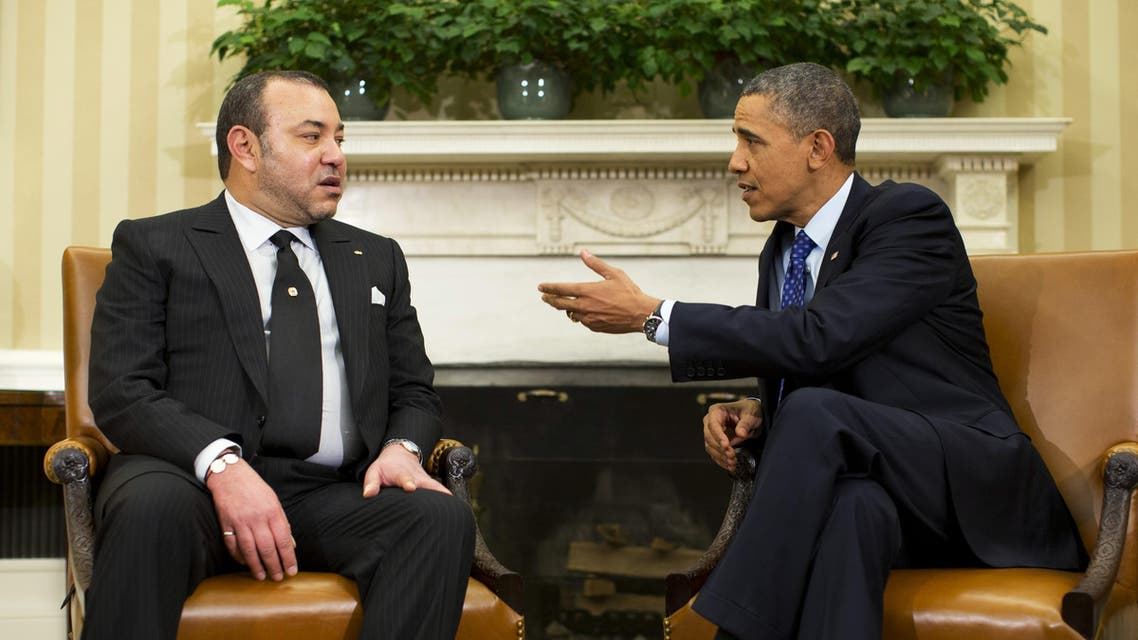 King Mohammed VI met President Barack Obama at the White House for the first time last November. (File photo: Reuters)