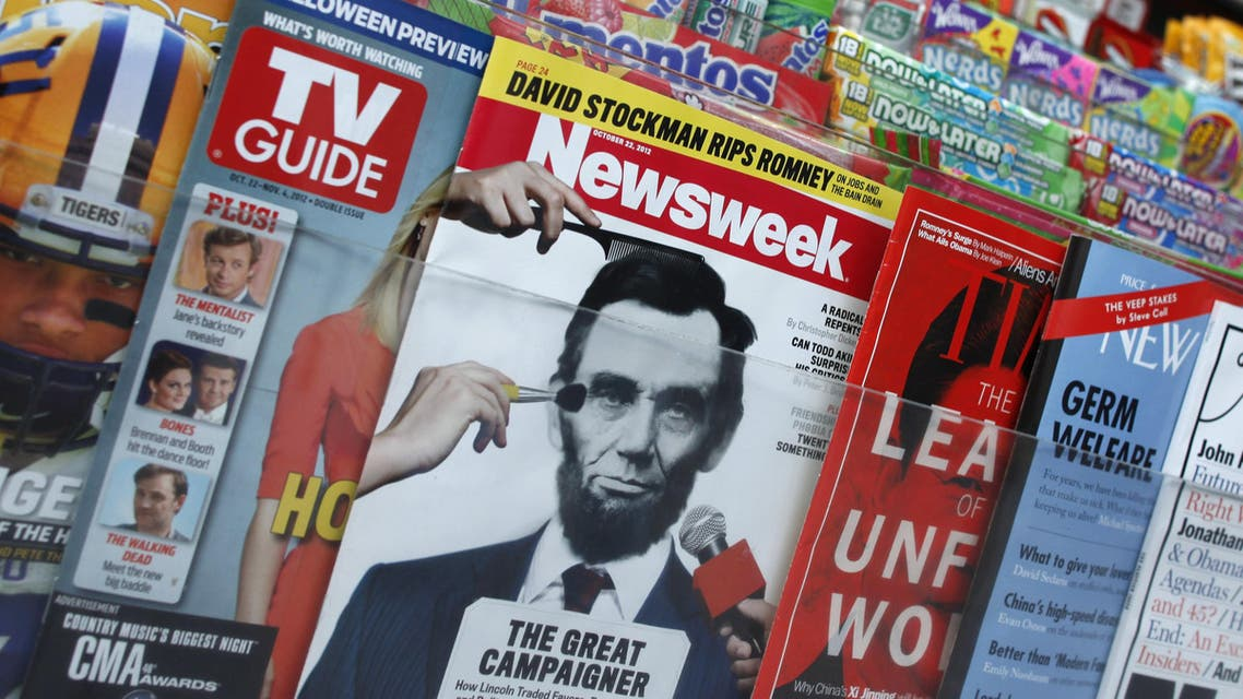 A copy of Newsweek on a newsstand in New York, shortly before it went online-only in Dec. 2012. (File photo: Reuters)