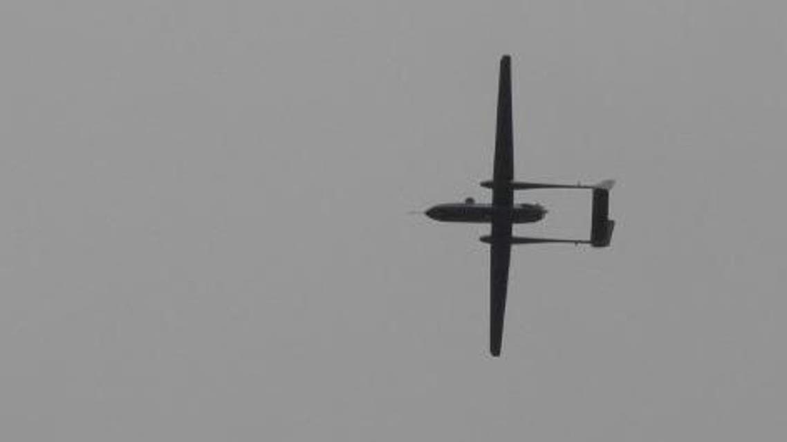 An Israeli drone flies over Rafah town in the southern Gaza Strip on Oct. 30, 2011 (File: AFP)