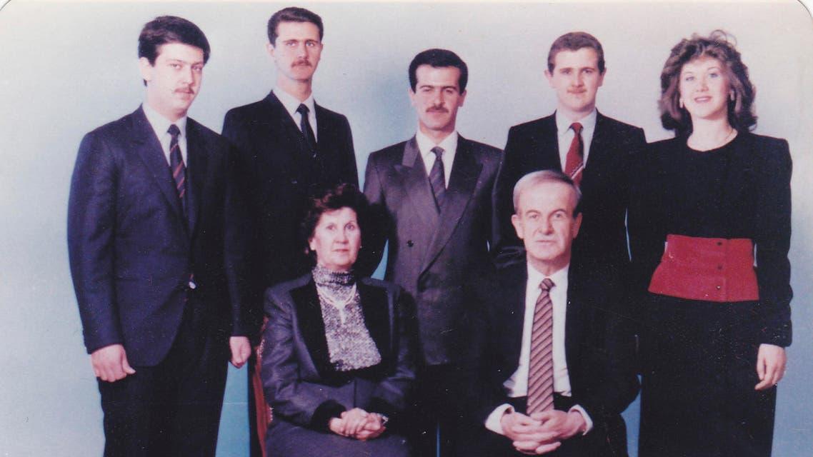 Former Syrian President Hafez al-Assad, his wife Aniseh, sons Maher, Bashar, Bassel, Majd and daughter Bushra (standing, L-R) reuters