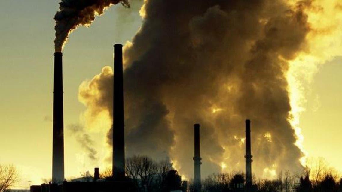 التلوث الناتج عن دخان المصانع