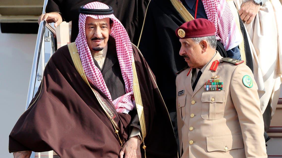 Saudi Arabia's Crown Prince Salman bin Abdul Aziz al-Saud (L) arrives at Haneda airport in Tokyo February 18, 2014. (Reuters)