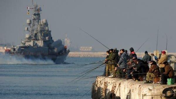 سفينة حربية روسية في القرم