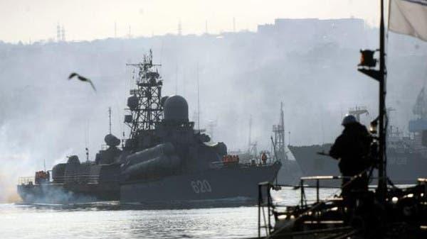 سفينة حربية روسية حاملة للصواريخ في القرم