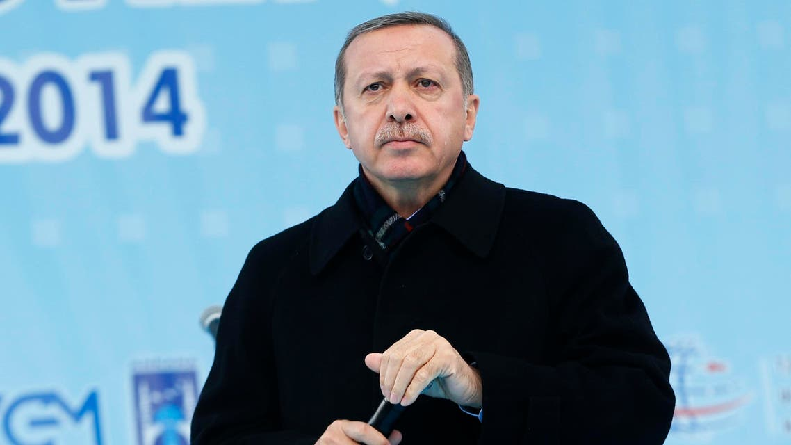 Turkey's Prime Minister Recep Tayyip Erdogan addresses the crowd during an opening ceremony of a new metro line in Ankara March 13, 2014. (Reuters)