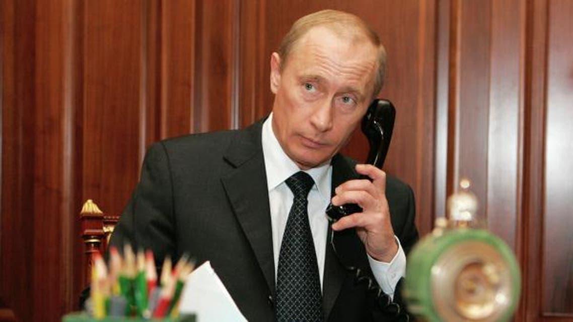 بوتين على التلفون