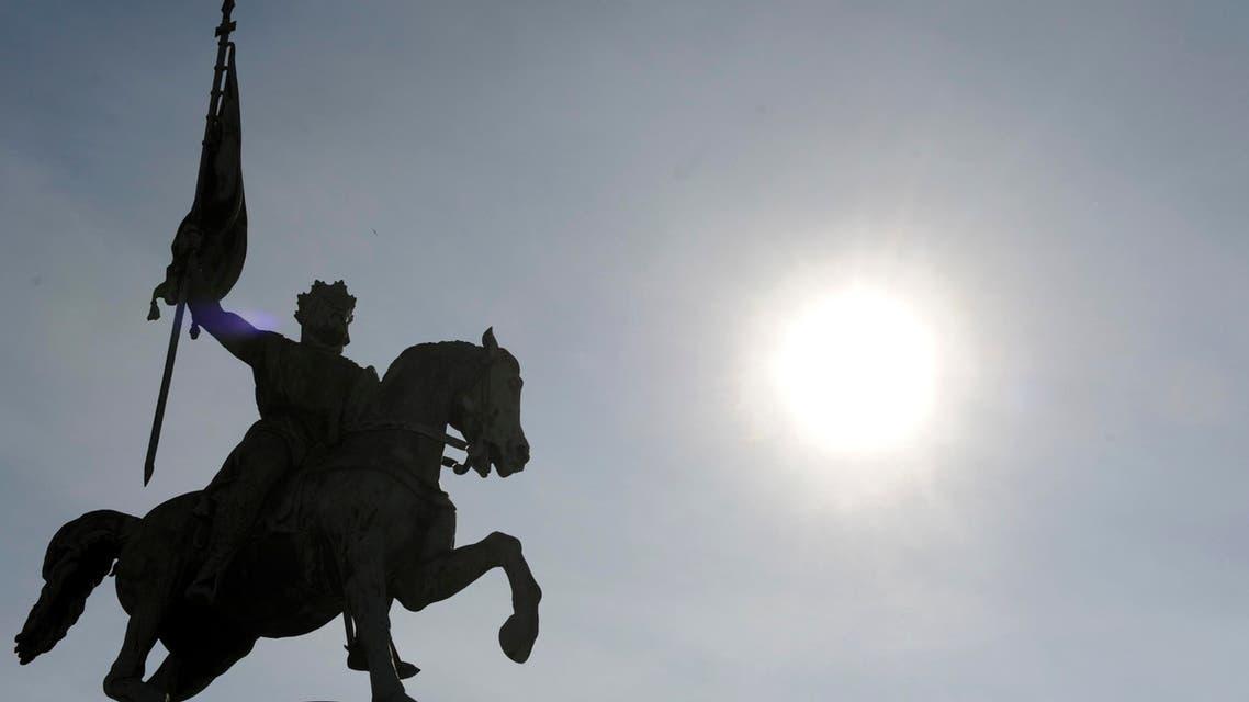 تمثال بوسط بروكسل عاصمة بلجيكا