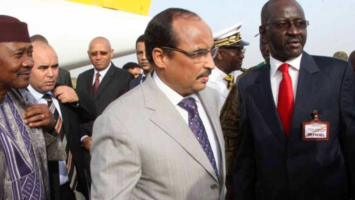 ولد مرزوك مع الرئيس الموريتاني