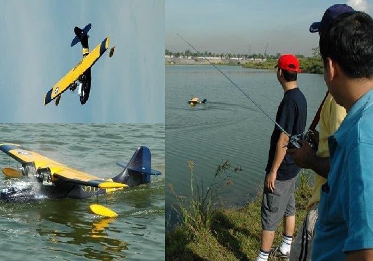 نشر 12 صورة لطيران هليكوبتر يتم التحكم بها عن بعد وانتهت غريقة في الماء.