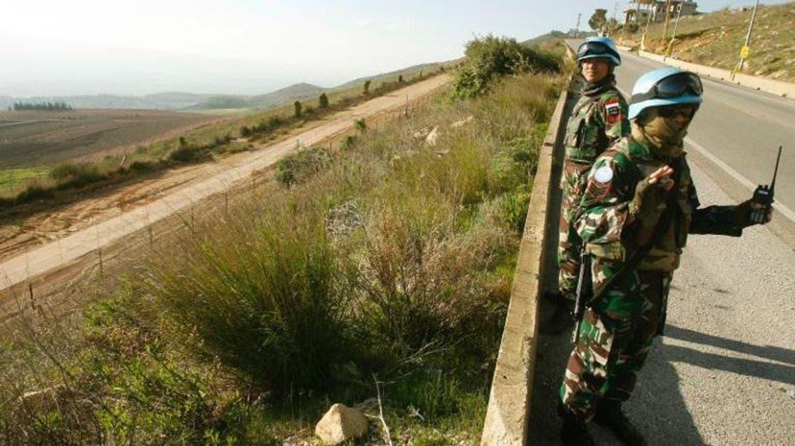 جنود الامم المتحدة على الحدود اللبنانية الاسرائيلية