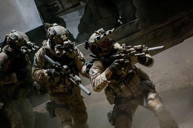 مشهد من فيلم في هوليوود عن قتل اسامة بن لادن