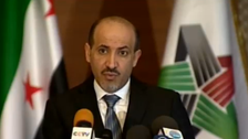 SNC chief speaks on anniversary of Syrian uprising