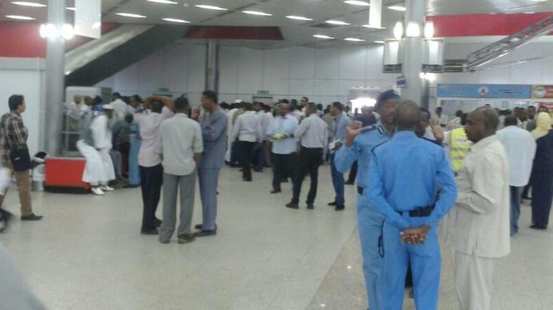 مطار الخرطوم السودان اضراب