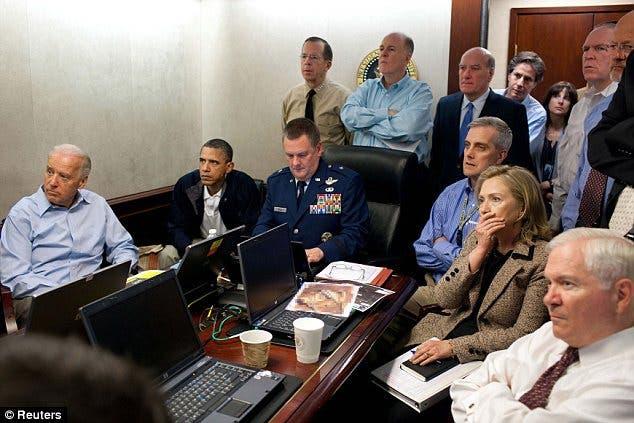 الادارة الاميركية تتابع عملية قتل اسامة بن لادن