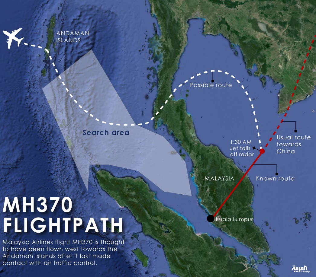 Infographic: MH370 flightpath