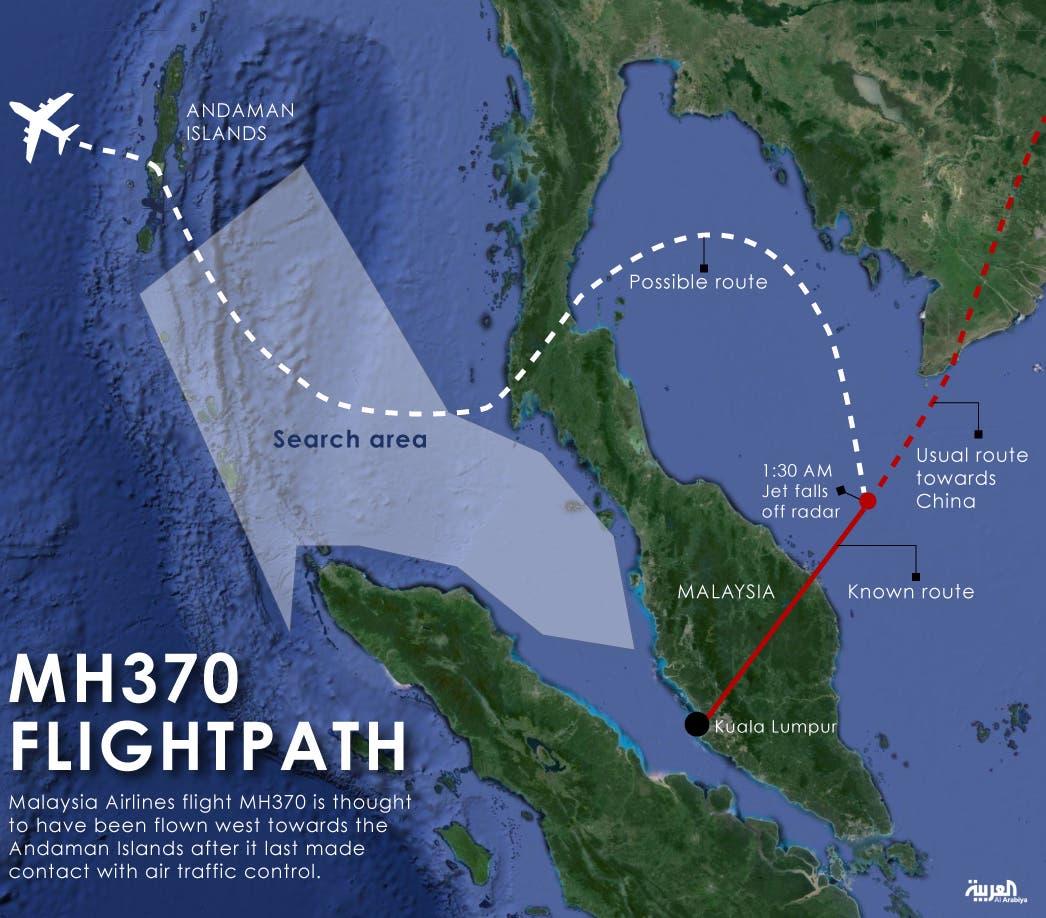 Infographic: MH370 flightpath