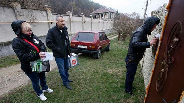 عمليات التصويت في استفتاء القرم
