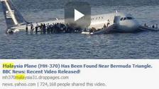 'Malaysia jet found near Bermuda Triangle': Warning over 'sick' scam