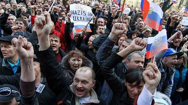 مظاهرات مؤيدة لروسيا في القرم رافقت الاستفتاء