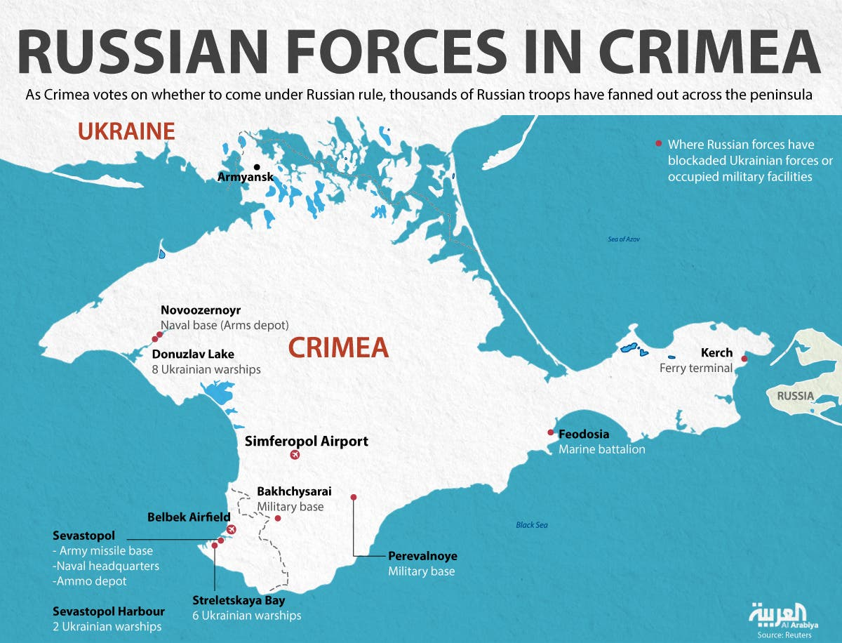 Infographic: Russian forces in Crimea