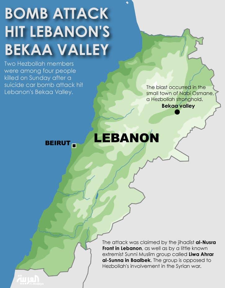 Infographic: Bomb attack hit Lebanon's Bekaa Valley