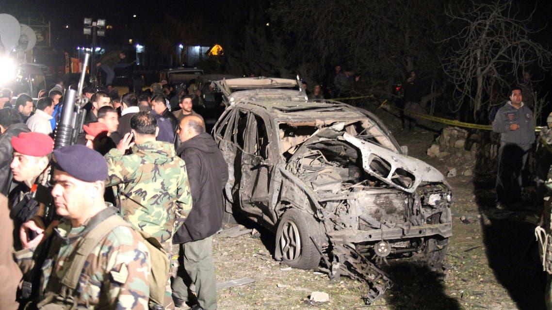 انفجار سيارة في لبنان