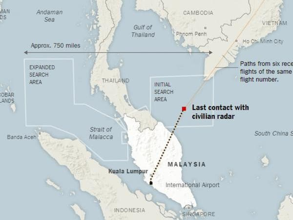 """خبراء طيران: مسار """"الماليزية"""" تغير آلياً وليس يدوياً"""
