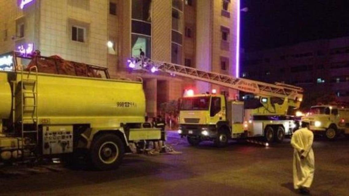 الدفاع المدني جدة شقة مفروشة حريق