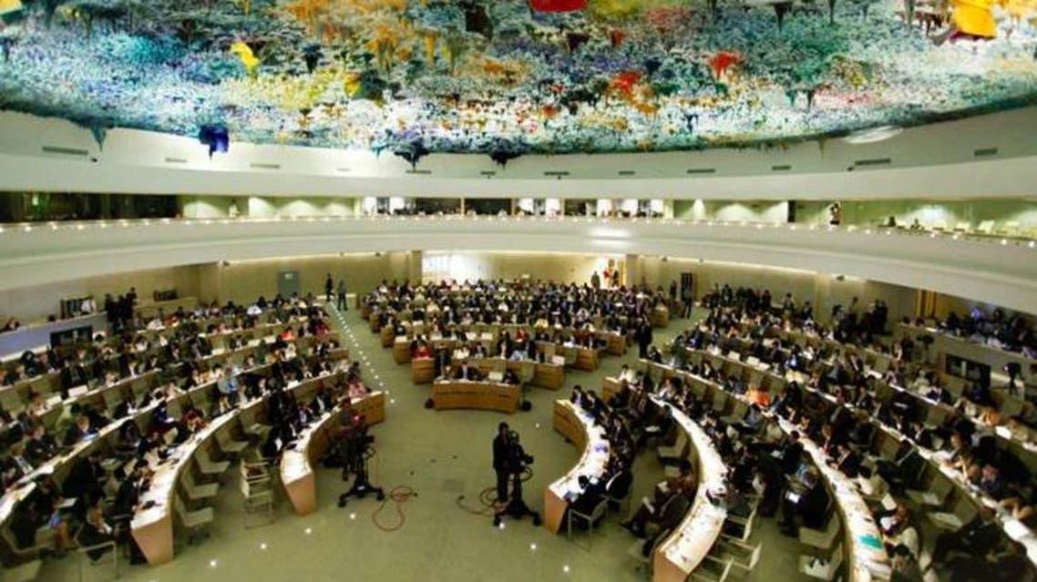 القاعة الرئيسية في مجلس حقوق الإنسان