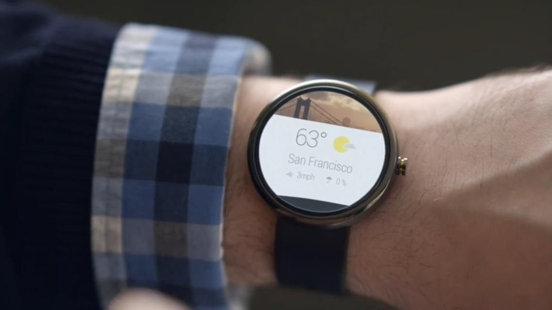 Google unveiled plans to help develop the watches and other wearable computers based on its Android system. (Photo courtesy: Google)