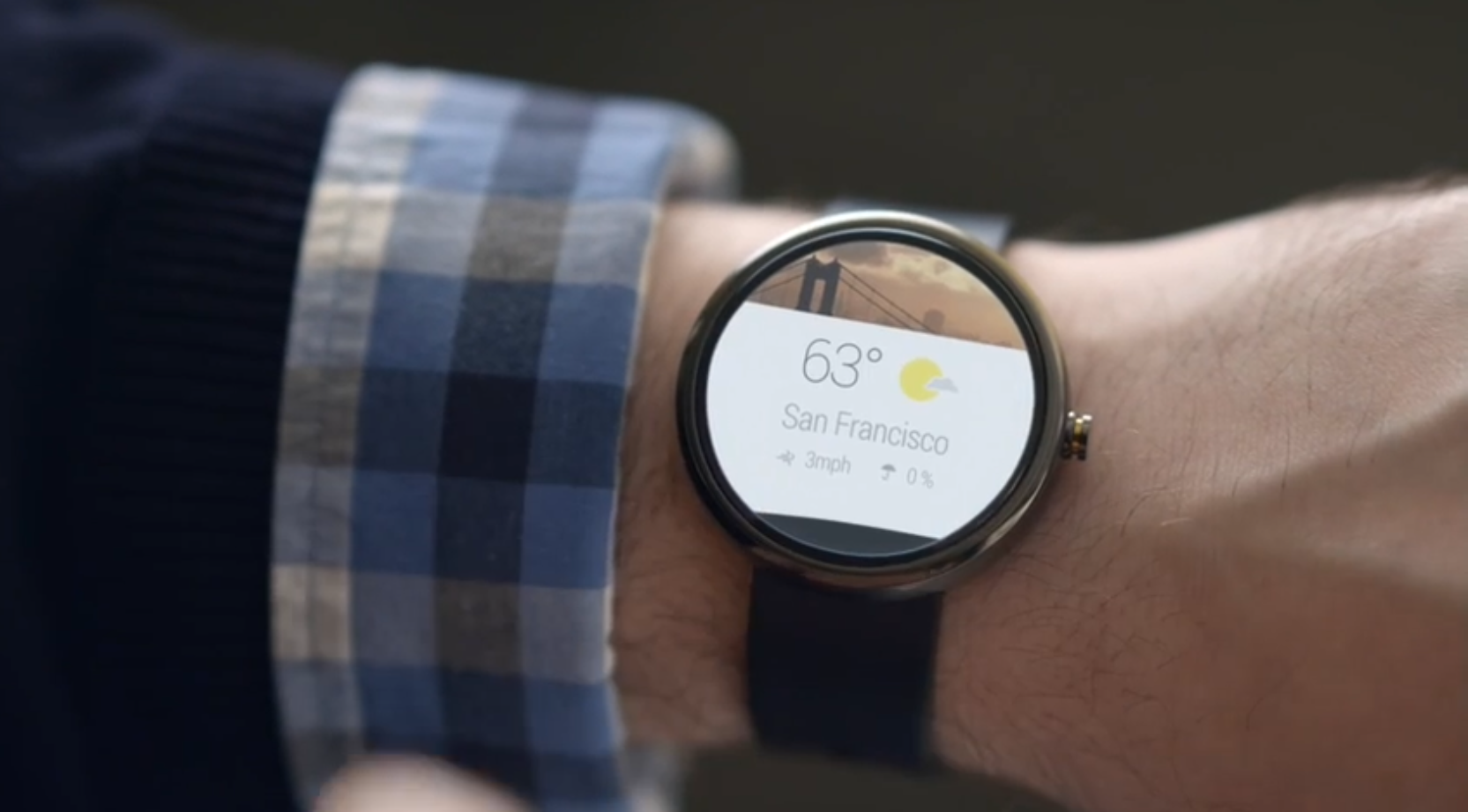 Android watches would give location-specific information. (Image courtesy: Google)