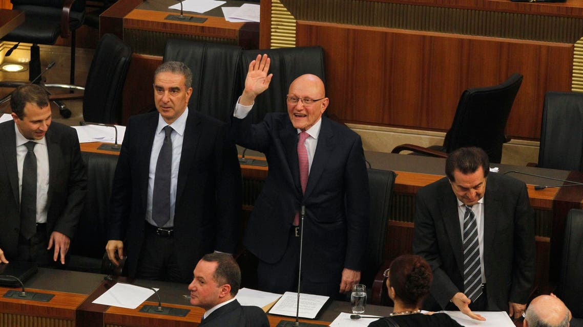 Lebanon's Prime Minister Tammam Salam gestures after his new government wins a vote of confidence in Beirut March 20, 2014. Reuters