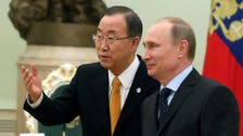 U.N. chief tells Putin he is 'deeply concerned' over Ukraine