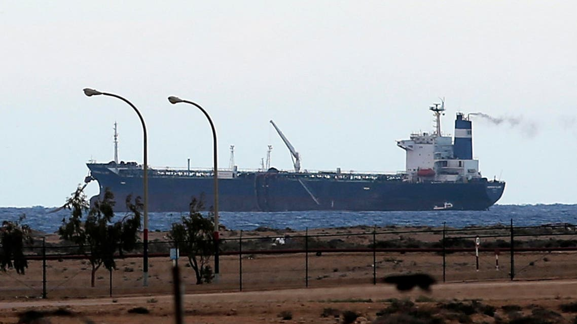 A North Korean-flagged tanker, the Morning Glory, is seen docked at the Es Sider export terminal in Ras Lanuf in this March 8, 2014 file photo. (Reuters)