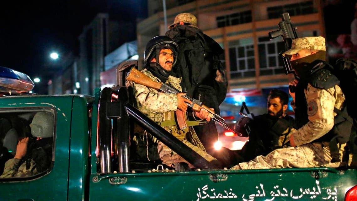 عناصر من قوات الأمن الأفغانية في كابول