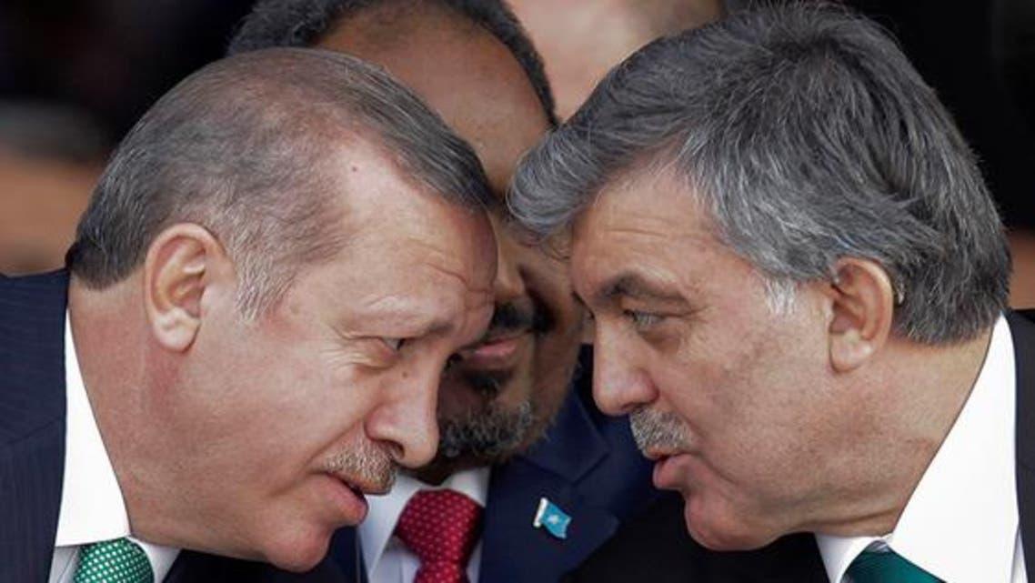 الرئيس التركي عبدالله غول ورئيس حكومته طيب رجب أردوغان