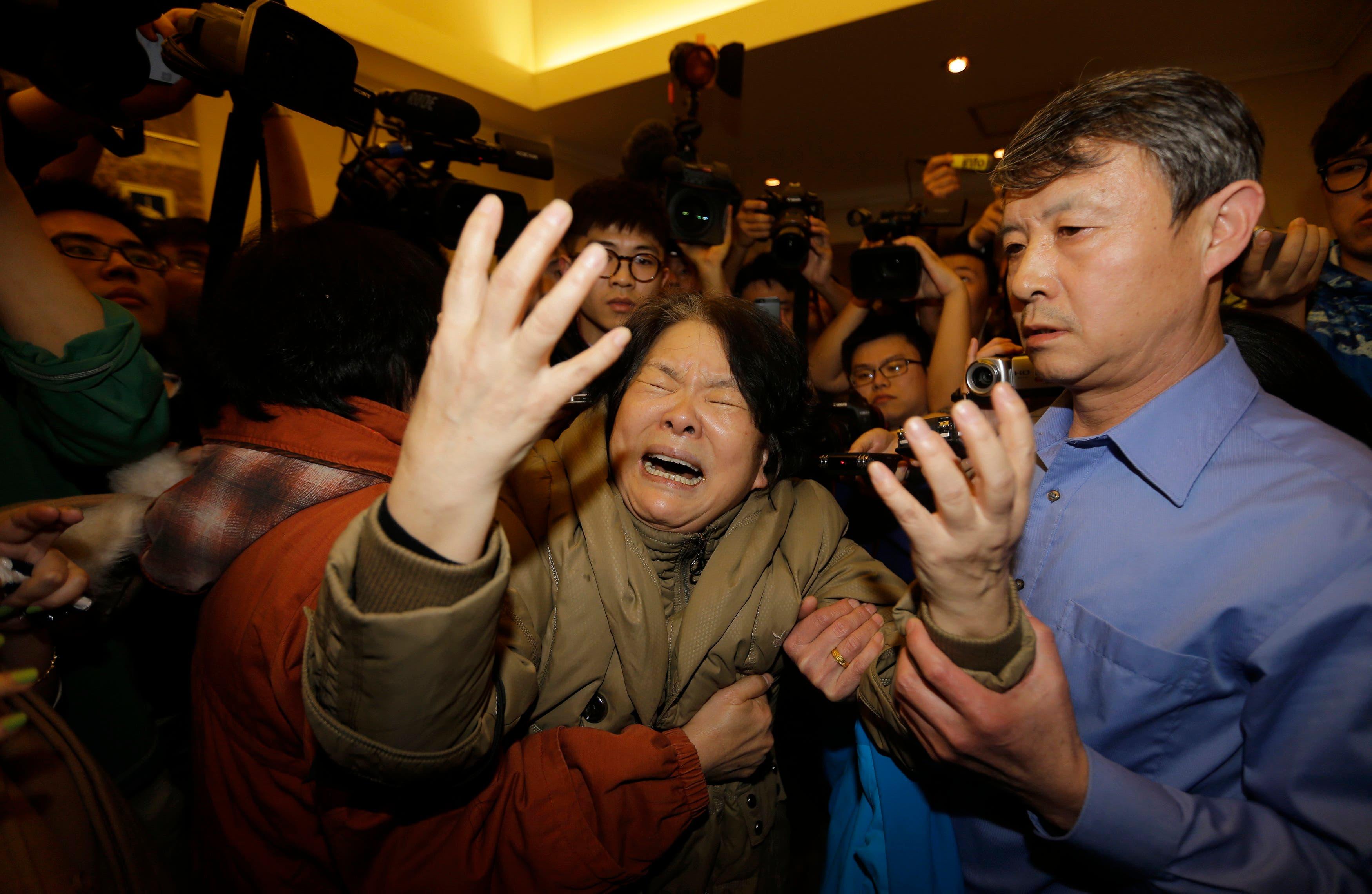 عائلات ضحايا الطائرة الماليزية