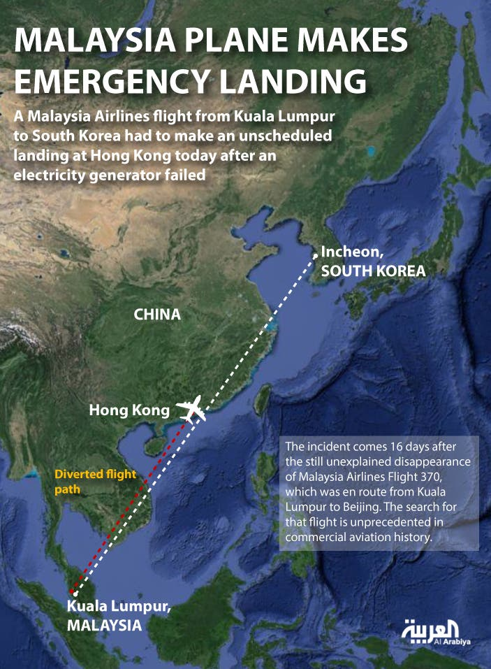 Infographic: Malaysia plane makes emergency landing