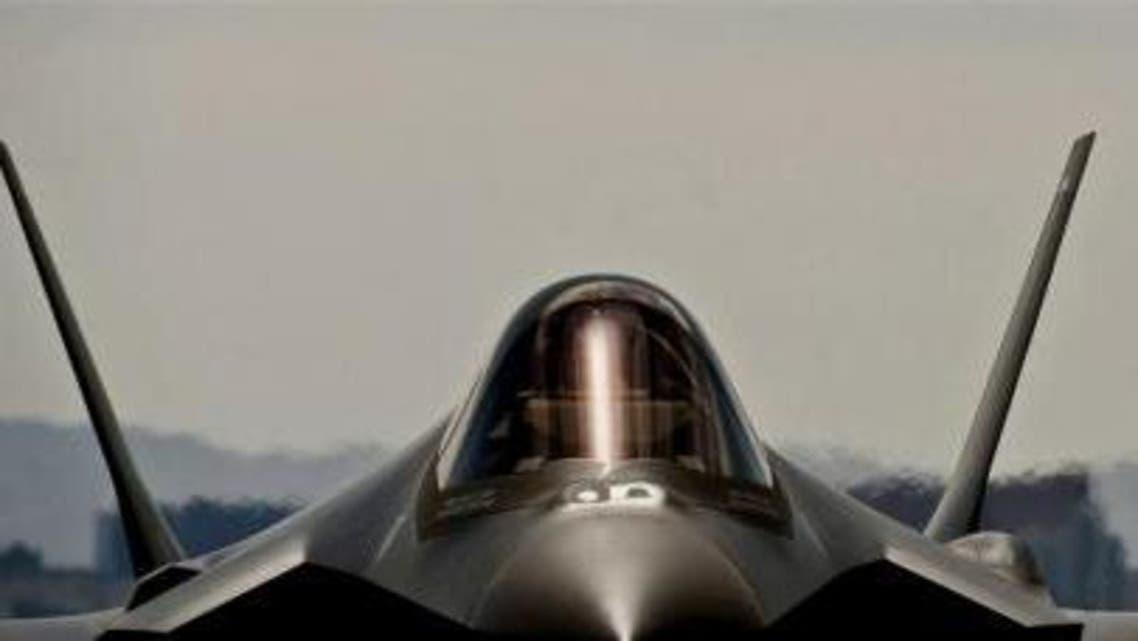 صورة أرشيفية لطائرة مقاتلة من طراز إف-35 في نيفادا
