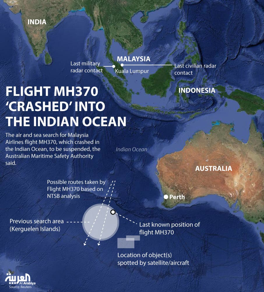 Infographic: Flight MH370 'crashed' into the Indian Ocean