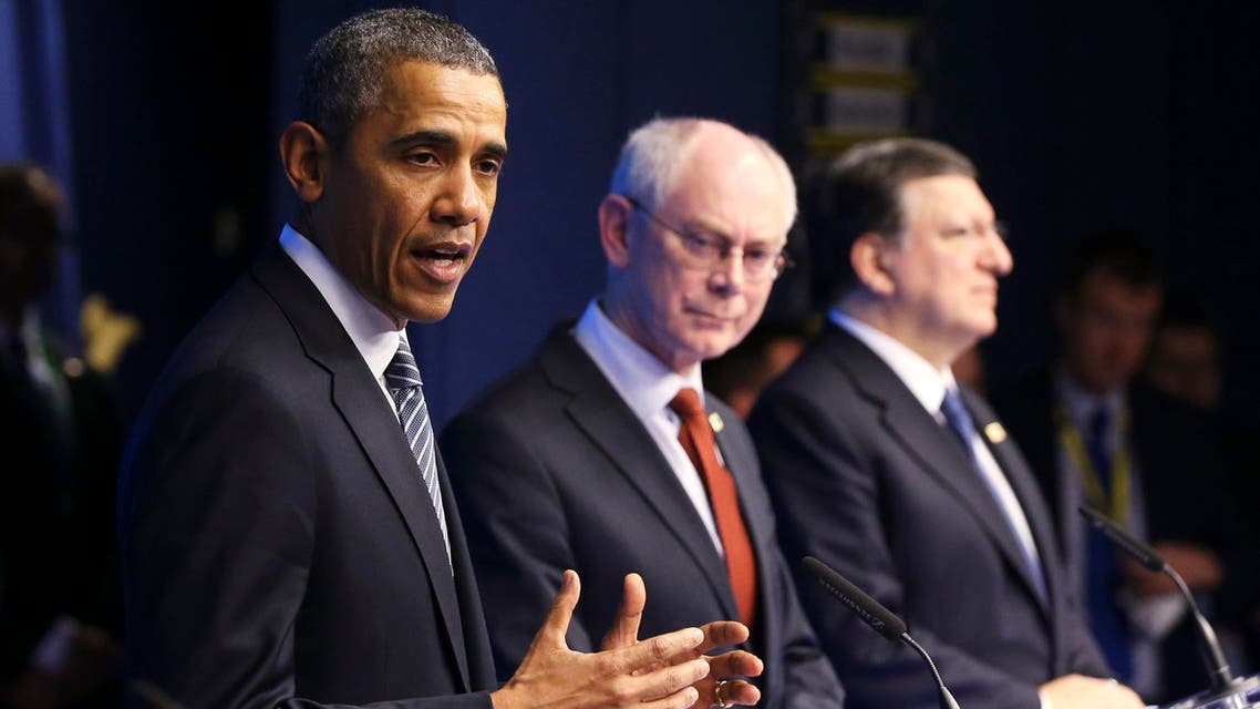 U.S. President Barack Obama addresses a joint news conference during an EU-U.S. summit at the European Council in Brussels March 26, 2014. (Reuters)