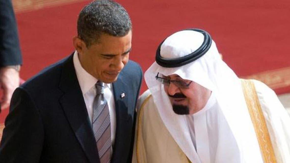 المللك عبدالله مع أوباما