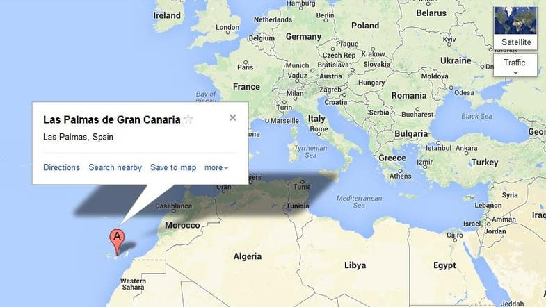 Map Of Spain Gran Canaria.Canary Island Emergency Services Mistake Ship For Crashed Plane Al