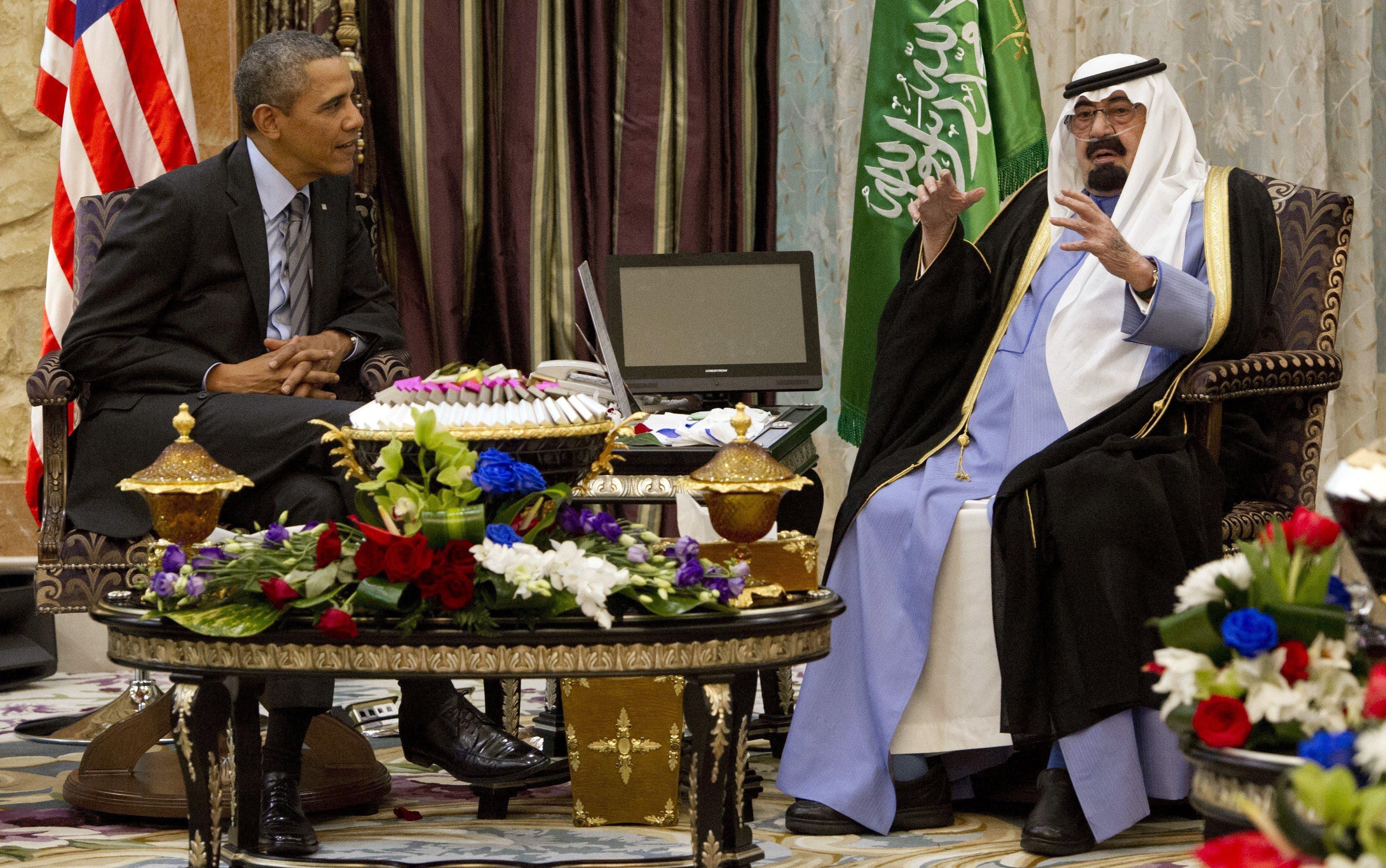 Obama and Saudi King (AFP)