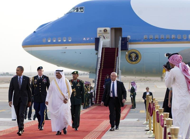 العاهل السعودي يستقبل الرئيس الأميركي