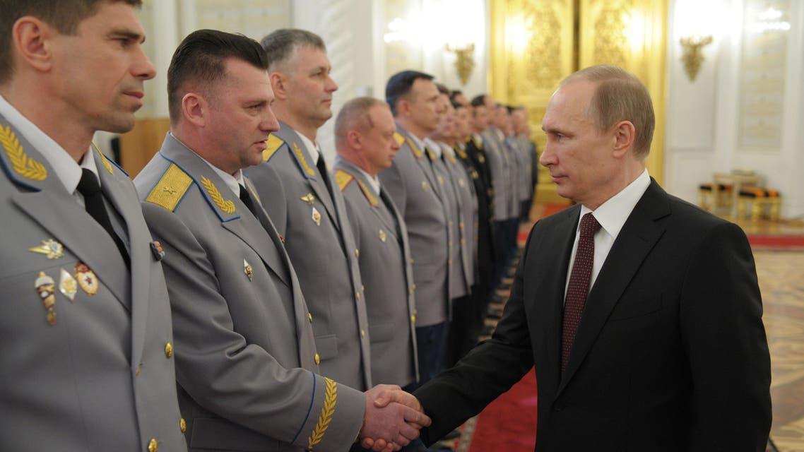 بوتين مع قادة القوات المسلحة الروسية