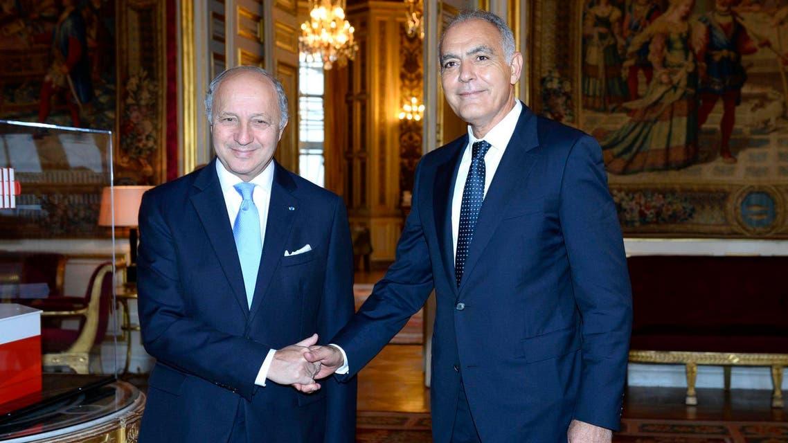 صورة أرشيفية لوزير الخارجية المغربي صلاح الدين مزوار مع وزير الخارجية الفرنسي